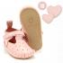 La Millou Moonies頂級羊皮膠底學步鞋禮盒11-18m_魔鬼氈款(草莓) 1