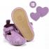 La Millou Moonies頂級羊皮膠底學步鞋禮盒11-18m_魔鬼氈款(葡萄) 1