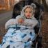 La Millou Aspen防水空氣時尚保暖推車睡袋-藍色雪鳥(舒柔深灰) 3