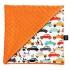 La Millou 單面巧柔豆豆毯-法鬥噗噗車(葡萄柚橙橘) 1