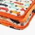 La Millou 暖膚豆豆毯(加大款)-法鬥噗噗車(葡萄柚橙橘) 1