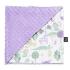 La Millou 單面巧柔豆豆毯(加大款)-動物探險隊(紫底)-粉紫馬卡龍 1