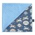 La Millou 單面巧柔豆豆毯(加大款)-旋轉小木馬(藍底)-蒙地卡羅藍 1