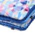 La Millou 暖膚豆豆毯(加大款)-莓果咕咕雞(加勒比海藍) 2