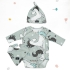La Millou 新生兒彌月禮包屁衣2件組_3-6m-童話獨角獸+童話獨角獸(綠底) 3