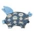 La Millou 豆豆小豬枕-旋轉小木馬(藍底)-蒙地卡羅藍 1