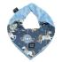 La Millou 豆豆圍兜領巾-旋轉小木馬(藍底)-蒙地卡羅藍 1