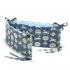 La Millou 拉米洛100%純棉床圍護欄-旋轉小木馬(藍底)-蒙地卡羅藍 1