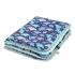 La Millou 暖膚豆豆毯-微笑彩魟魚(藍底)-粉嫩薄荷綠 2