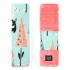 La Millou 安全帶保護套-限量款小鹿斑比(綠底)-夢幻珊瑚粉 1