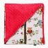 La Millou 單面巧柔豆豆毯(加大款)-樹屋貓頭鷹(粉紅棉花糖) 1