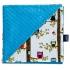 La Millou 單面巧柔豆豆毯-樹屋貓頭鷹(土耳其藍) 1