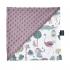 La Millou 單面巧柔豆豆毯(加大款)-動物探險隊(粉底)-法式香檳紫 1