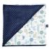 La Millou 單面巧柔豆豆毯-動物探險隊(藍底)-勇氣海軍藍 1