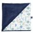 La Millou 單面巧柔豆豆毯(加大款)-動物探險隊(藍底)-勇氣海軍藍 1