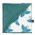 La Millou 單面巧柔豆豆毯(加大款)-心心鸚鵡(藍綠愛琴海) 1