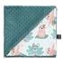 La Millou 單面巧柔豆豆毯-瑜珈珈樹懶(藍綠愛琴海) 1
