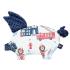 La Millou 豆豆小豬枕-打火小英雄-藍底(勇氣海軍藍) 1