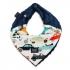 La Millou 豆豆圍兜領巾(法鬥噗噗車-勇氣海軍藍) 1