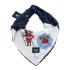 La Millou 豆豆圍兜領巾-打火小英雄-藍底(勇氣海軍藍) 1