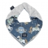 La Millou 豆豆圍兜領巾-旋轉小木馬(藍底)-牛奶星空灰 1