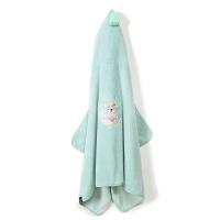 La Millou Jersey時尚篷篷浴巾_加大2Y-8Y- 瑜珈珈樹懶(粉嫩糖果綠)
