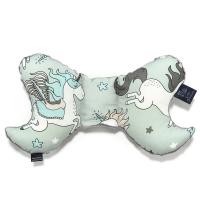 La Millou 天使枕-童話獨角獸(綠底)-雲朵白