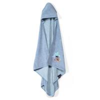 La Millou Jersey時尚浴巾_標準0-2Y- 氣球嘉年華(蒙地卡羅藍)