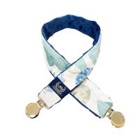 La Millou豆豆多功能防掉夾(50cm)-動物探險隊(藍底)-勇氣海軍藍