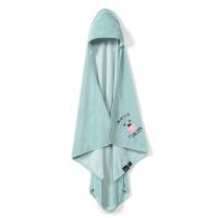 La Millou Jersey時尚浴巾_標準0-2Y- 小巴哥憂憂(粉嫩糖果綠)