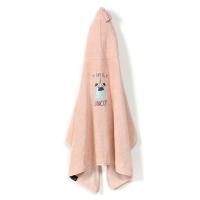 La Millou Jersey時尚篷篷浴巾_加大2Y-8Y- 小巴哥憂憂(夢幻珊瑚粉)