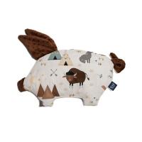 La Millou 豆豆小豬枕-野牛歷險記(可可巧克力)