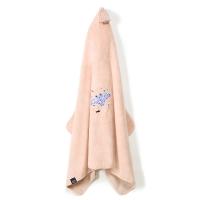 La Millou Jersey時尚篷篷浴巾_加大2Y-8Y- 微笑彩魟魚(夢幻珊瑚粉)