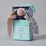 La Millou Velvet頂級棉柔系列-長耳安撫巾兔禮盒(舒柔粉)